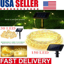 30/150 LED Solar Power String Lights Copper Wire Outdoor Fairy Light Decor Xmas