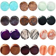 """2pcs 16-Style Double Flare Expanders Stretchers Ear Tunnels Plugs Gauges 2g-5/8"""""""