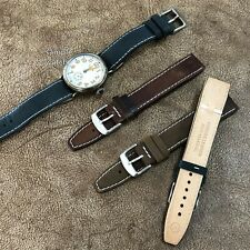 Size 20mm Vintage Open-ended Strap Band for Fixed Wire Lug Watch  #111