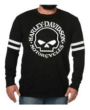Harley-Davidson Men's Signature Willie G Premium Long Sleeve Shirt, Black