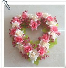 Heart-shape Garland for Wedding Home Decoration Romantic Hanging Wreath for Vale