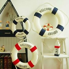 Welcome Aboard Lifebuoy Ring Preserver Nautical Boat Marine Wall Hanging Decor T