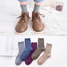 5 Pairs Mens 100% Wool Cashmere Comfortable Warm Dress Casual Soft Winter Socks
