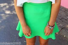 ZARA GREEN A-LINE MINI SKIRT REF.2622/819 XS BLOGGERS FAVORITE