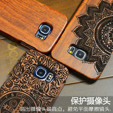 High Quality Wood Case For Samsung s6 Wooden New Cover Natural Real Bamboo Carvi