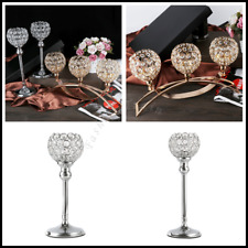 Votive Tealight Candle Holder Crystal Candlestick Stand Wedding Home Decoration