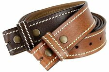 Pebbled Genuine Leather Jeans Leather Belt Strap for Easy Buckle Change for men