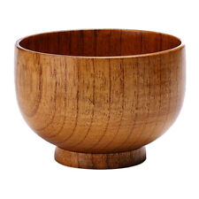 1pc Solid Wooden Salad Bowl/Rice Miso Soup Bowl/Rice Bowl/Decorative Bowl