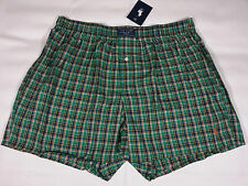 POLO RALPH LAUREN Plaid Cotton Woven Boxer Shorts Underwear Mens Small Green