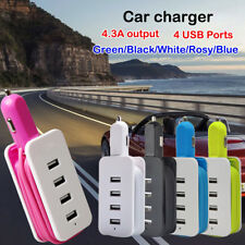 4-USB Multi Ports Car Charger Cable Power Adapter Home Travel For Cellphones 97
