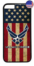 USA Flag US Air Force Logo United States Rubber Case Cover iPhone 8 7 Plus 6 5 X