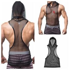 Men's Muscle Fishnet See-through Vest Tank Top Singlet Tee Undershirt Clubwear