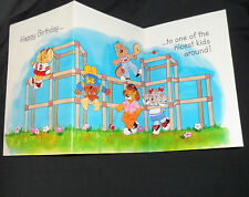 Vintage retro 1980's Get Along Gang Birthday Mother's day Cards