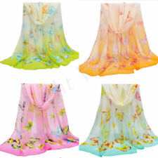 Hot Women Lady Chiffon Butterfly Long Soft Scarf Shawl Wrap Scarves Stole NEW 63
