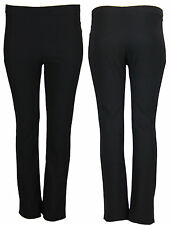 J78 New Ladies Plus Size RIB Trousers Womens Baggy Straight BootLeg Pants In 25,