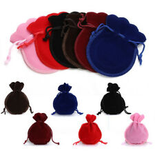 12Pcs/Set Velvet Flocking Drawstring Pouch Bags Storage Coin Jewelry Gift Bag