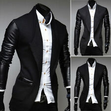 Stylish Men's Slim Fit Trench Coat Single Breasted Coat Jacket Overcoat Outwear