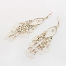 Women Fashion Collection Solid Pattern Colorful Beads Decorated Earrings B814