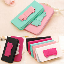 Sweet Candy Big Bowknot Charms Flip Leather Case Cover For Apple Samsung