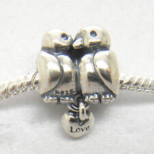Genuine Authentic S925 Sterling Silver Love Birds Animal Bead