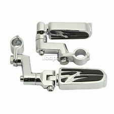 """1"""" New Chrome Foot Pegs Mounts Clamps For Harley Davidson Dyna Sportster Softail"""
