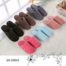 Solid Color Ultra Soft Cotton Fabric Slippers Anti-slip Indoor Floor Slippers PL