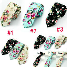 Mens Floral Paisley Cotton Skinny 6cm Necktie Party High Quality Tie 3 Stype New