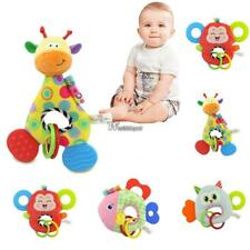 Baby Doll Toy With Teether Animal Stuffed Plush Rattle Ring Doll WT88
