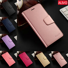 For Apple iPhone 5 5S SE Slim PU Leather Case Card Stand Magnetic Wallet Cover