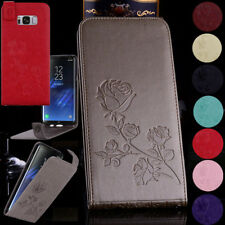 For Samsung Luxury Rose Patterned Stand Wallet Leather Vertical Flip Case Cover