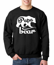 New Way 787 - Crewneck Papa Bear Grizzly Father's Day Padre Paternal