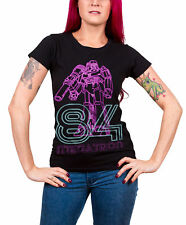 Transformers T Shirt Megatron Neon 84 new Official Womens Skinny Fit Black