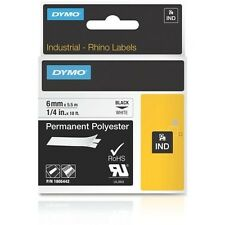 "Dymo 1805442 1/4"" Permanent Polyester Rhino Labels"