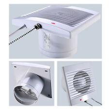 4inch White Bathroom Kitchen Toilet Wet Room Extractor Fan 100,120,150mm