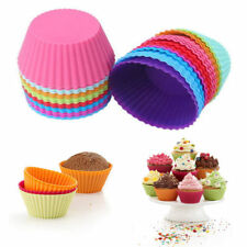 10Pcs Silicone Cake Muffin Chocolate Cupcake Liner Baking Cup Cookie Craft Mold