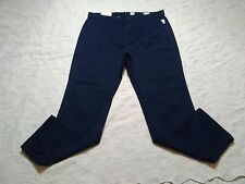 GAP CHINOS PANTS MENS RELAXED SLUB SIZE 33X30 TAPESTRY NAVY ZIP FLY NEW WITH TAG