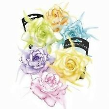 Pastel Tone Rose Flower Corsage/Hair Elastic Feather Wedding/Parties