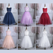 Flower Girl Dress Sequin Mesh Party Wedding Princess Tulle Dress 2-14 Pageant