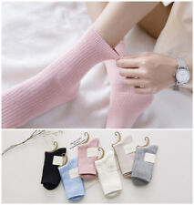 6 Pairs Womens 100% Cotton Soft Cute Candy Color Ankle Dress Casual Warm Socks