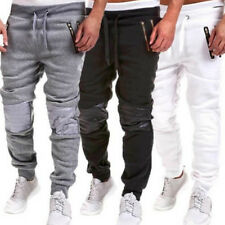 Mens Sports Pants Slim Fit Running Jogger Baggy Slacks Gym Long Trousers Casual