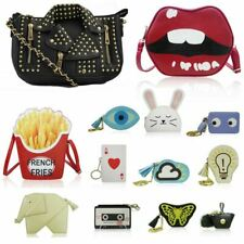 Women S Novelty Handbags Quirky French Fries Clutch Evil Eye Purses