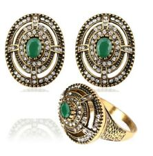 New Fashion Shiny Wedding Party Ring Earring Jewelry Set For Women
