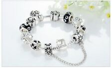 Beads Trendy New Fashion Silver Plated Charming Bracelet For Women
