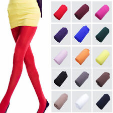 Women Ladies Girls Plain 120 Denier Tights Pantyhose Stockings Hosiery One Size