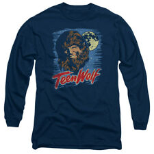 Teen Wolf Movie Painted MOON WOLF Adult Long Sleeve T-Shirt S-3XL