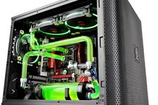 Micro ATX Computer Gaming Cube Chassis Black PC Compact Tower Side Window Box