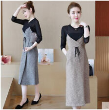 new spring Korean fashion trend T-shirt knitting Condole belt two-piece dress