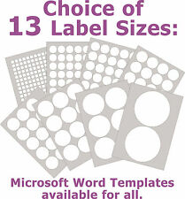 Removable Low Tack Labels Round Matt White Laser Inkjet Stickers 5 A4 Sheets