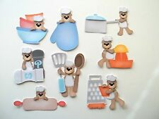 3D-U Pick-CB1 Cooking Baking Bears Oven Mixer Apron Scrapbook Card Embellishment