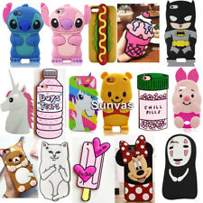 For iPhone 3D Cartoon Soft Silicone Mobile Phone Back Case Cover Skin Shell